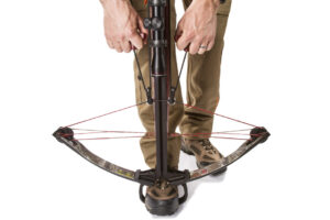 cocking a crossbow with rope device