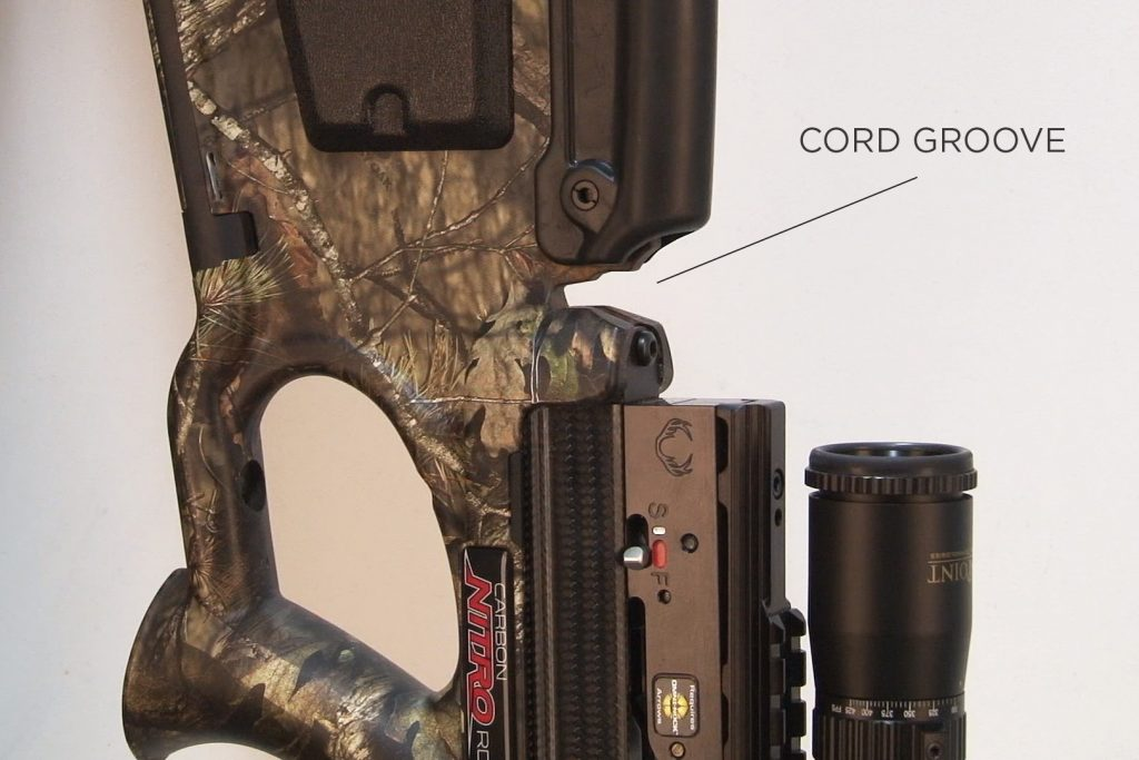 cord groove location on a TenPoint crossbow