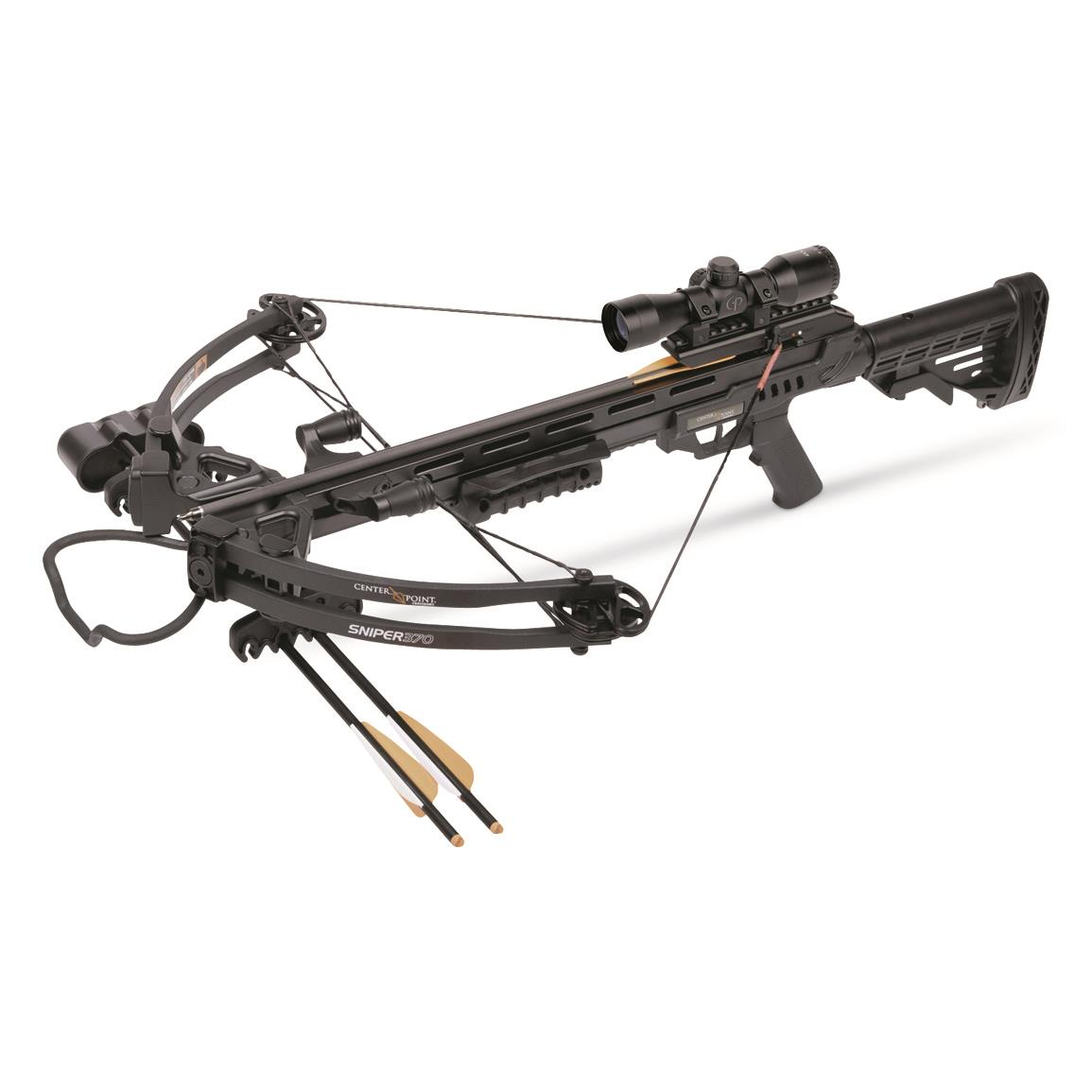 CenterPoint Sniper 370 Crossbow Package, 4x32mm Scope